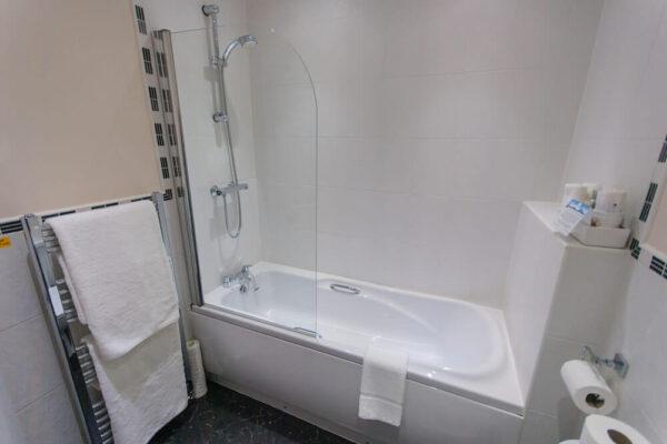 Small White Modern Bathroom